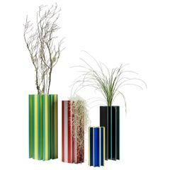 Set of 4 Piscis Aluminium Vases by Jorge Penadés