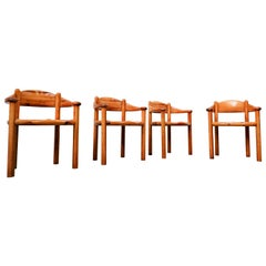 Set of 4 Pitchpin Armchairs by By Rainer Daumiller, 1970s