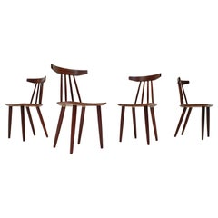 """Set of 4, Poul Volther """"307"""" Chairs in Teak for Frem Røjle, Denmark, 1960s"""