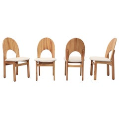 Set of 4 Rainer Daumiller Style Pine Dining Chairs