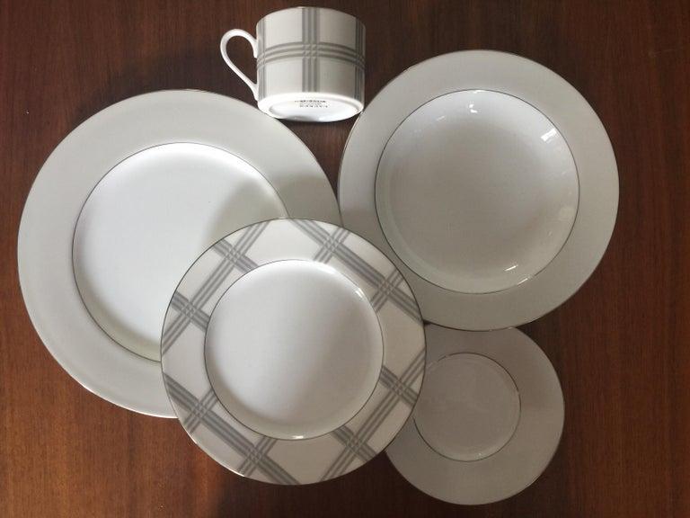 American Set of 4 Ralph Lauren Glen Plaid Porcelain Place Settings For Sale