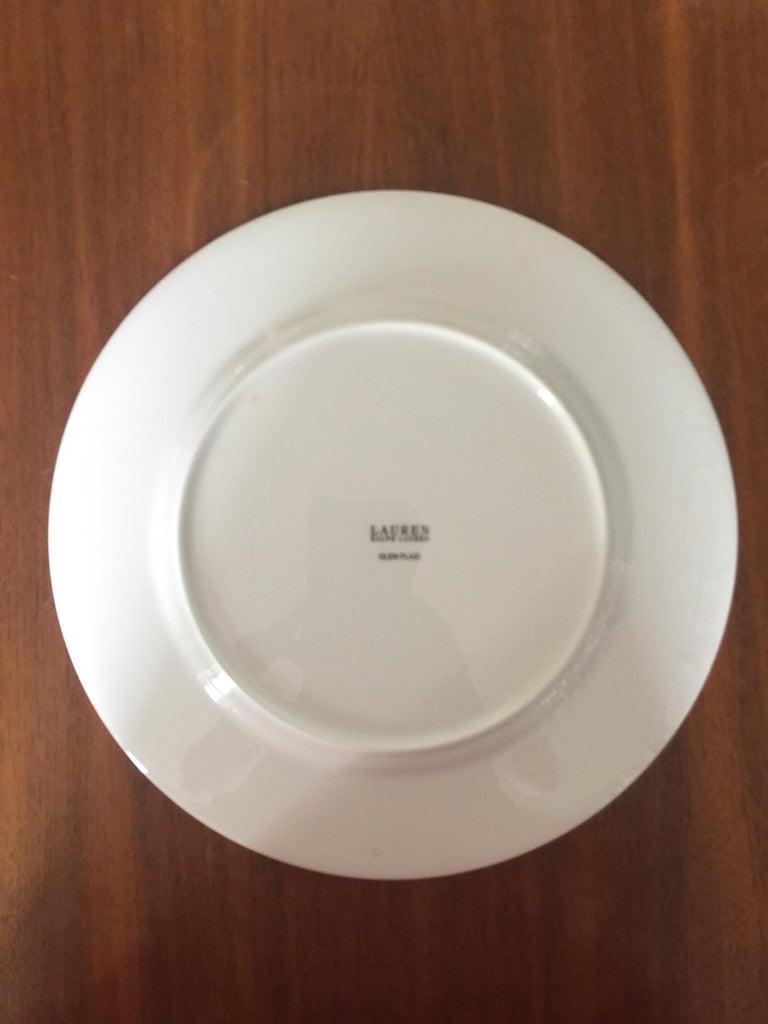 Set of 4 Ralph Lauren Glen Plaid Porcelain Place Settings For Sale 1