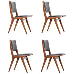 Set of 4 Rare Dan Johnson Dining Chairs for Hayden Hall Furniture