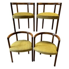 Set of 4 Rare Hardwood Chairs by Ole Knudsen & Torben Lind for France and Son