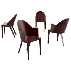 Set of 4 Rare Philippe Starck Chairs from the Royalton Hotel, NYC