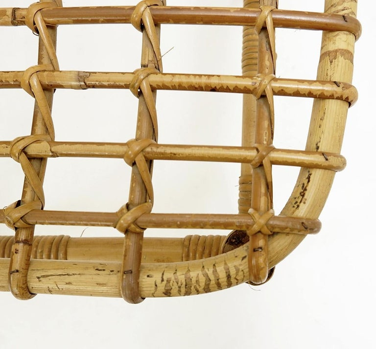 Set of 4 Rattan Chairs, 1960s For Sale 3