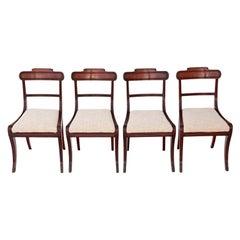 Set of 4 Regency Mahogany Dining Chairs