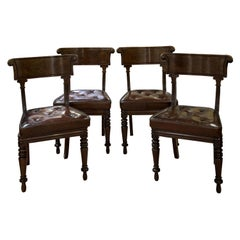 Set of 4 Regency Period Mahogany Library Chairs, circa 1820