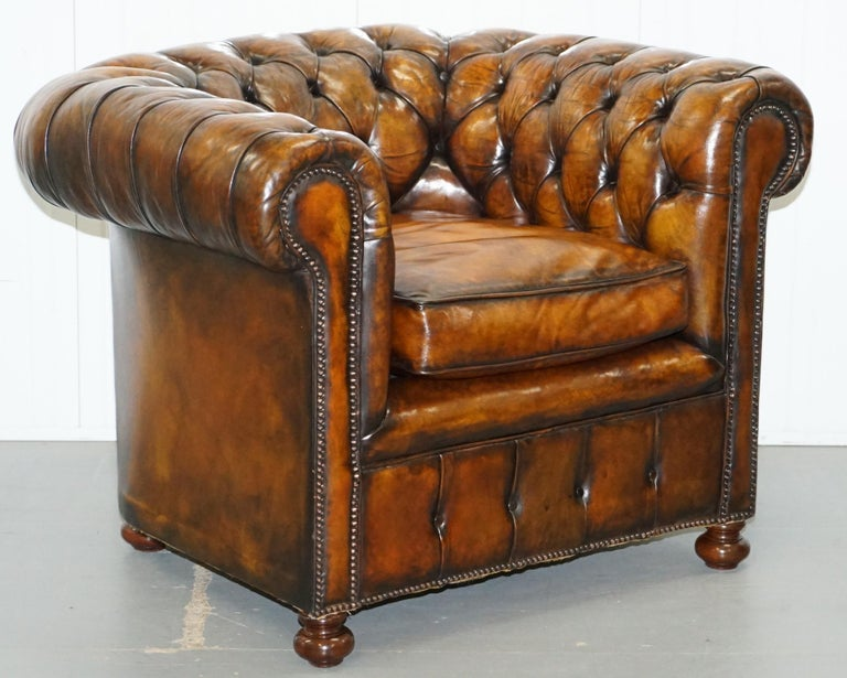 Set of 4 Restored Victorian Chesterfield Club Armchairs ...