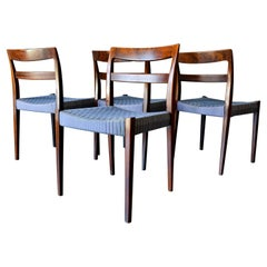 Set of 4 Rosewood Dining Chairs by Nils Jonsson, Sweden, ca. 1960
