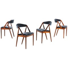 Set of 4 Rosewood Dinning Chairs by Kai Kristiansen, 1960s