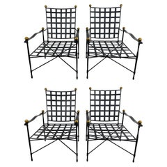 Set of 4 Salterini Lounge Chairs by Mario Papperzini