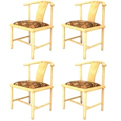 Set of 4 Samuel Marx Parchment Veneered Sidechairs