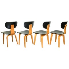 Set of 4 SB02 Chairs Cees Braakman for UMS Pastoe Netherlands, 1952