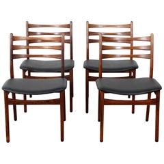 Set of 4 Scandinavian Chairs in Rosewood