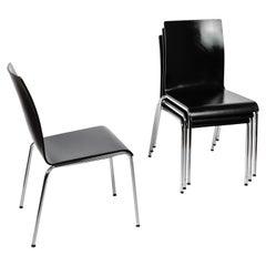 Set of 4 Scandinavian Modern Poro L Dining Chairs in Beech, Made in Switzerland