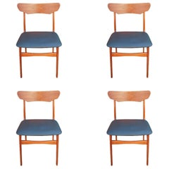 Set of 4 Schionning and Elgaard Danish Teak Dining Chairs