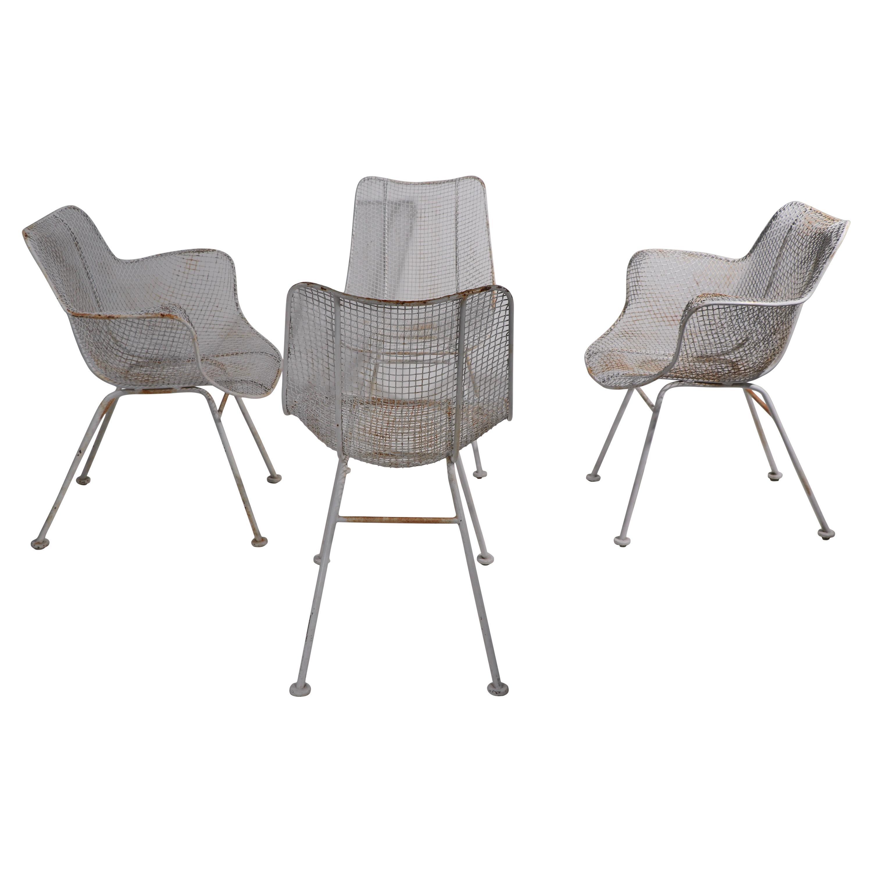 Set of 4 Sculptura Garden Patio Dining  Chairs by Woodard