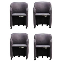 Set of 4 Sculptural Postmodern Dining Chairs John Macheroni
