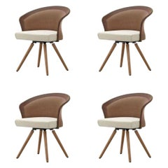 Set of 4 Shells Armchairs by Martin Ballenat for Tonon