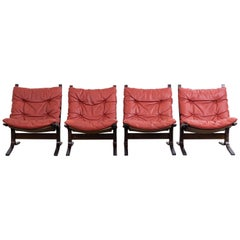 Set of 4 Siesta Chairs by Ingmar Relling for Westnofa, 1960s