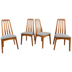 Set of 4 Solid Teak Svegards Markaryd Dining Chairs