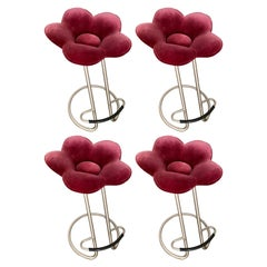 Set of 4 Soshun Flower Bar Stools by Masanori Umeda for Edra, Italy, 1990s