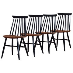 Set of 4 Spindle Back Dining Chairs by Marian Grabiński for Fameg, 1960s