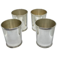 Set of 4 Sterling Julep Cups by Benjamin Trees of Lexington, Kentucky