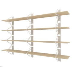 Set of 4 Strut Shelves from Souda, Modern White Wood Wall Shelf/Bookcase