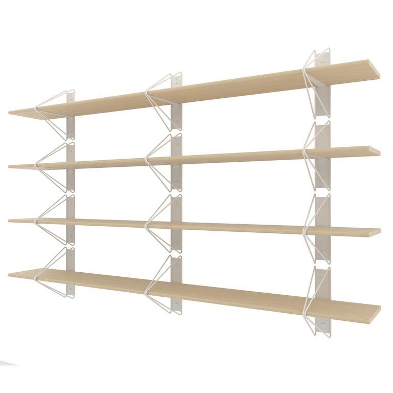 Set Of 4 Strut Shelves From Souda Modern White Wood Wall Shelf Bookcase