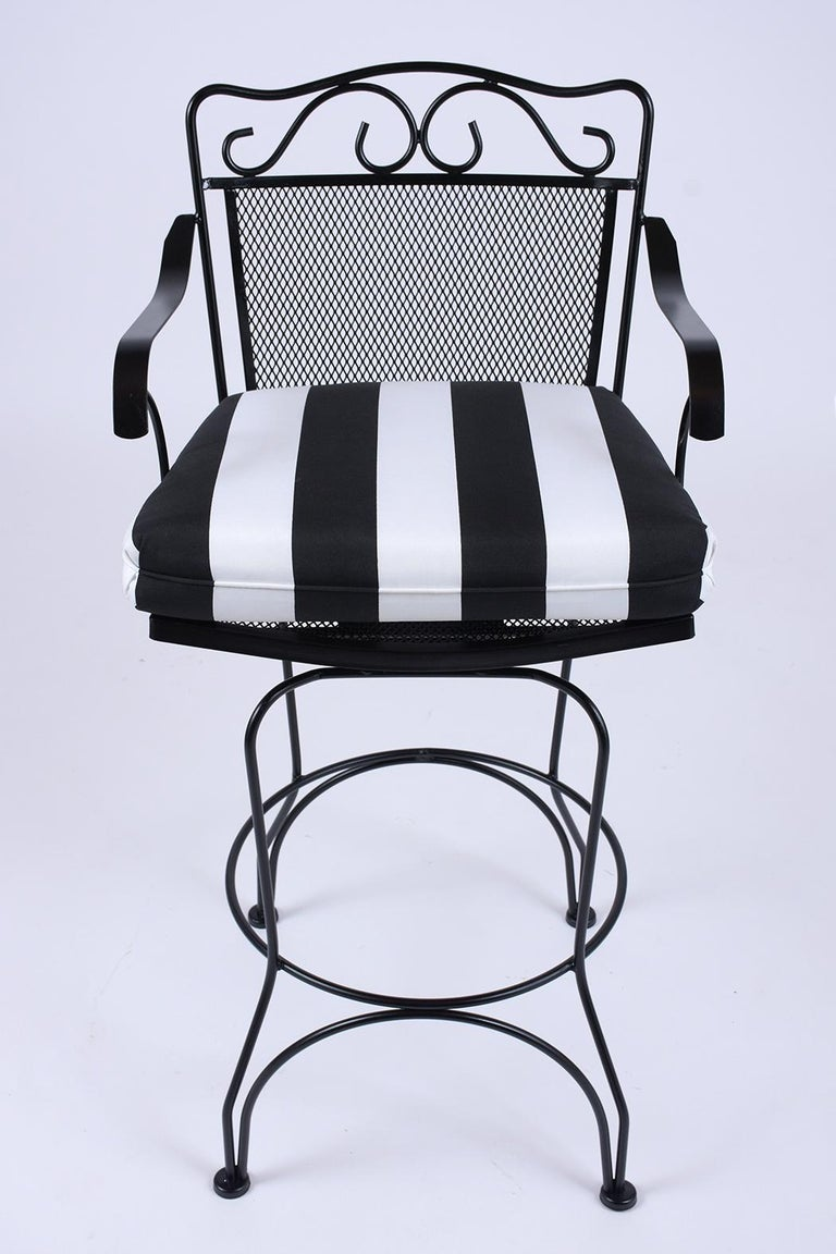Painted Set of 4 Swivel Bar Stools For Sale
