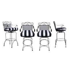 Set of 4 Swivel Bar Stools