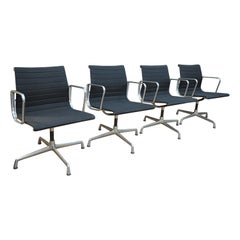 Set of 4 Swivel Chairs EA 108 by Charles Eames for Vitra