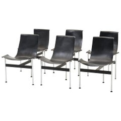 Set of 4 T-Chairs 3LC by Douglas Kelly, Ross Littell & William Katavolos
