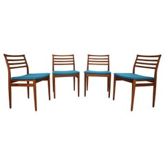 Set of 4 Teak Dining Chairs by Erling Torvits for Sorø Stolefabrik, Denmark 1960