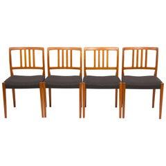 Set of 4 Teak Dining Chairs by Hugo Troeds Bjärnum, Swedish, circa 1960s