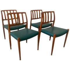 Set of 4 Teak Dining Chairs by Niels O. Møller for J.L. Møllers, Denmark