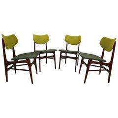 Set of 4 Teak Dining Chairs Hamar by Louis Van Teeffelen for Wébé, 1960s