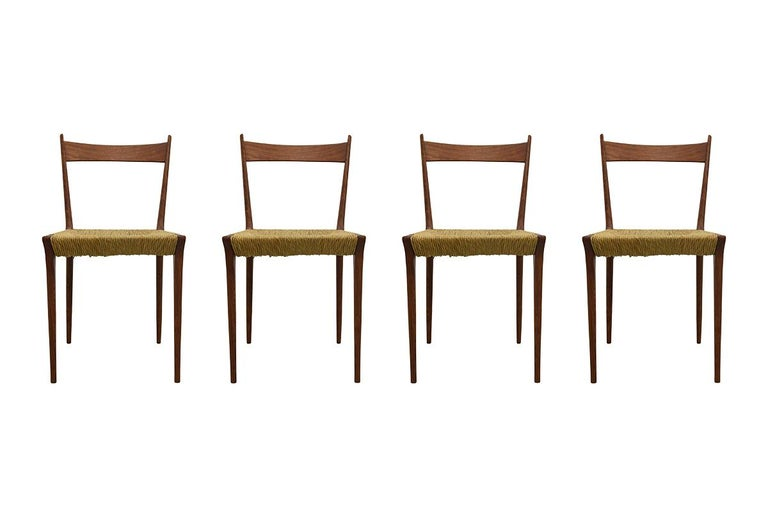 Set of 4 Teak S2 Dining Chairs by Alfred Hendrickx for Belform, 1960s For Sale 5