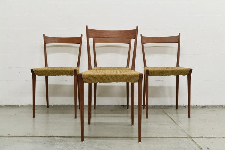 Belgian Set of 4 Teak S2 Dining Chairs by Alfred Hendrickx for Belform, 1960s For Sale