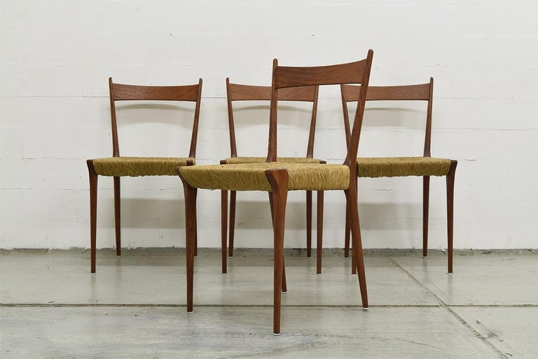 Set of 4 Teak S2 Dining Chairs by Alfred Hendrickx for Belform, 1960s In Good Condition For Sale In The Hague, NL