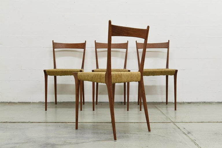 Set of 4 Teak S2 Dining Chairs by Alfred Hendrickx for Belform, 1960s For Sale 1