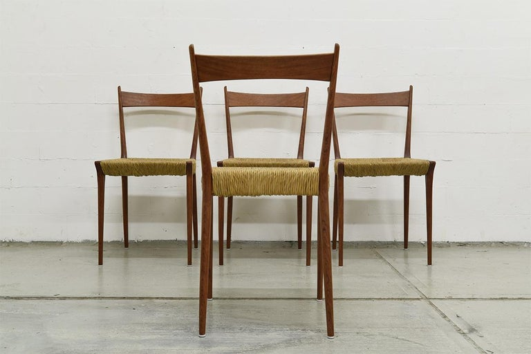 Set of 4 Teak S2 Dining Chairs by Alfred Hendrickx for Belform, 1960s For Sale 2
