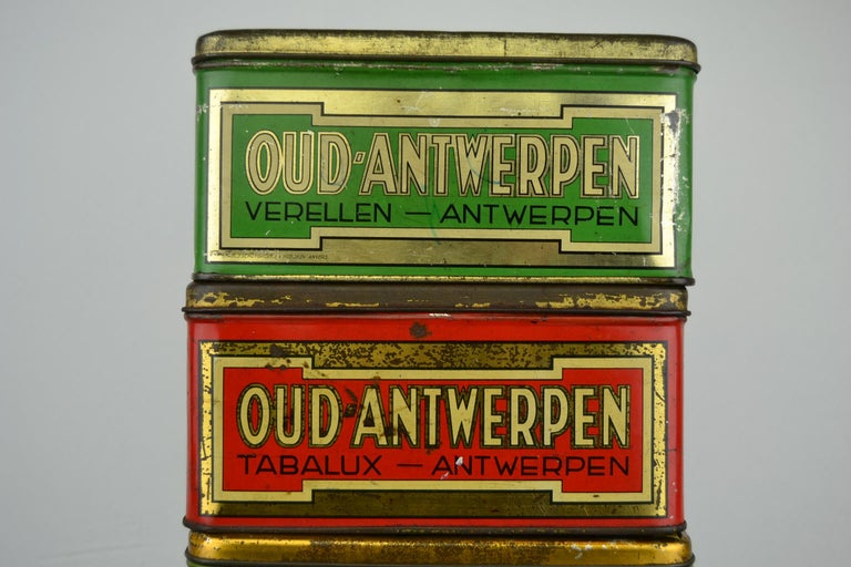 Set of 4 Tobacco Boxes Antwerp, Belgium, 1950s For Sale 4