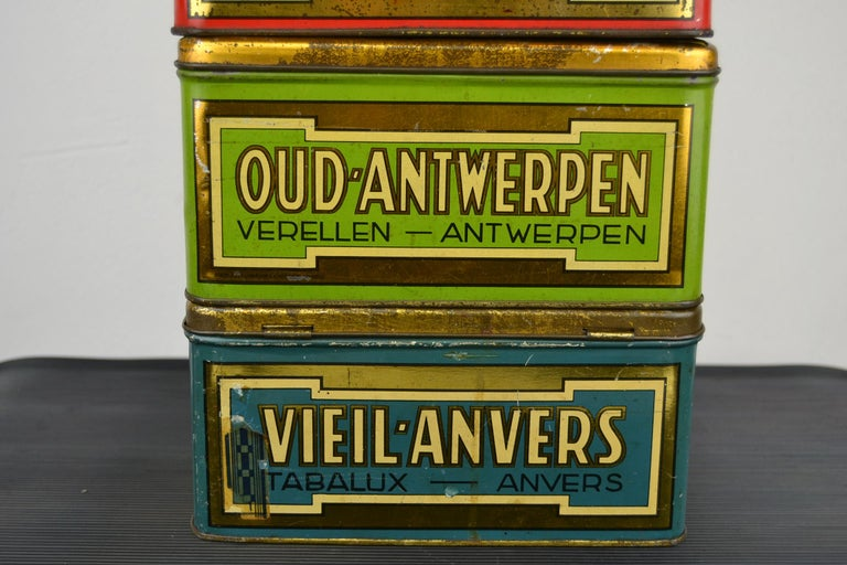 Set of 4 Tobacco Boxes Antwerp, Belgium, 1950s For Sale 5