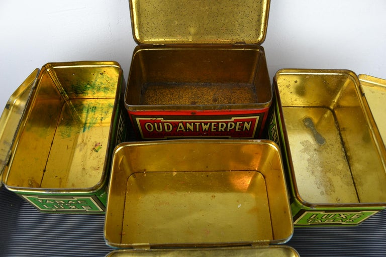 Set of 4 Tobacco Boxes Antwerp, Belgium, 1950s For Sale 6