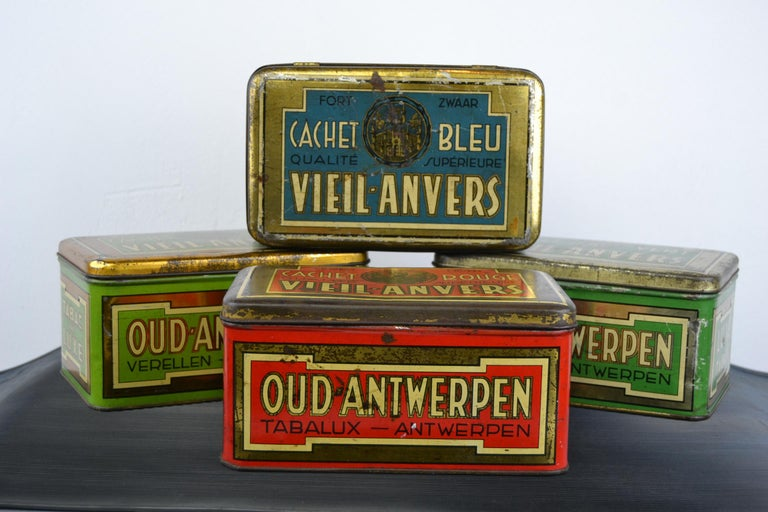 Set of 4 Tobacco Boxes Antwerp, Belgium, 1950s For Sale 9