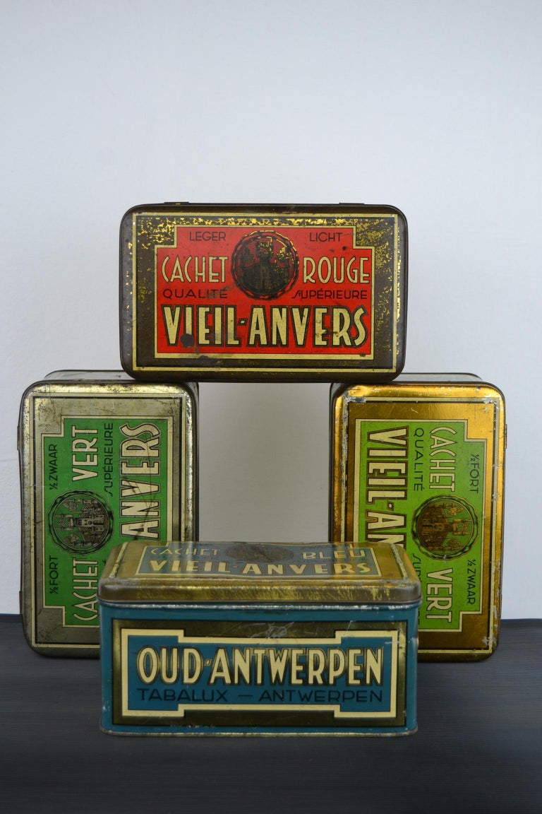 Set of 4 Tobacco Boxes Antwerp, Belgium, 1950s For Sale 10