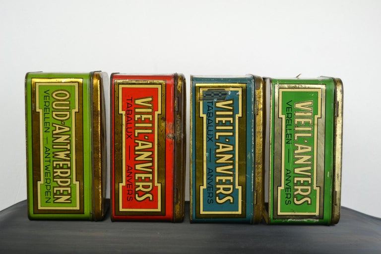 Set of 4 Tobacco Boxes Antwerp, Belgium, 1950s For Sale 2